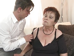 Bigtit granny deepthroat and..