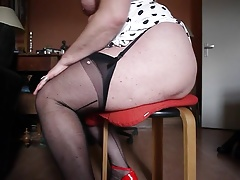 Pray  in seamed Nylons and..