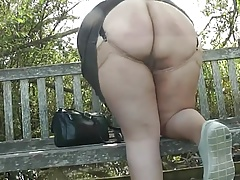 Upskirt in the Country Park..