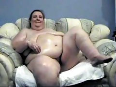 SSBBW granny getting off