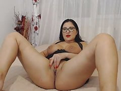 Huge-titted camwhore with..