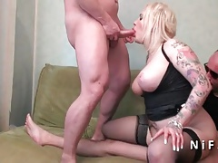 french   rock-hard  in 3some