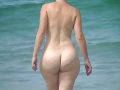 Mature on beach