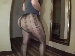 Big butt  taunting in..