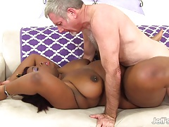Ebony  Luna gets plowed