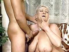 Chubby Granny Plumbs Some Stud